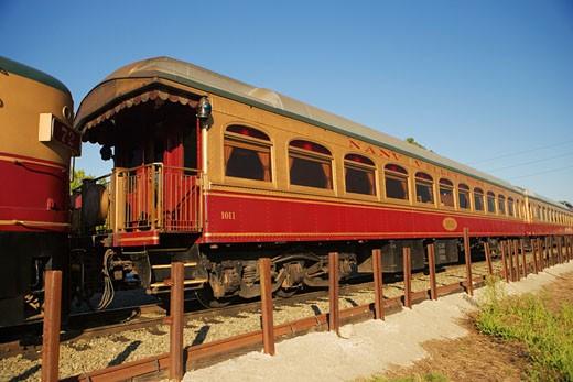 Commuter train on a railroad track : Stock Photo