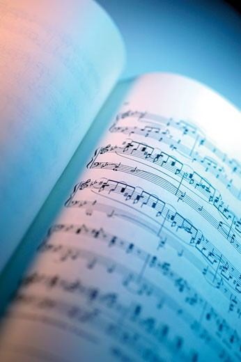 Close-up of sheet music : Stock Photo