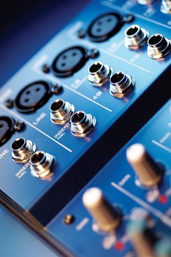 Audio equipment, close-up : Stock Photo
