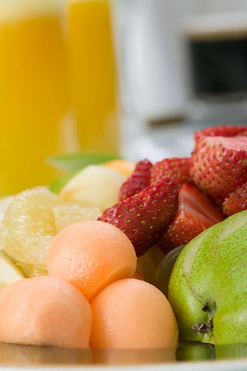 Stock Photo: 1663R-33785 Close-up of a mixed fruit salad