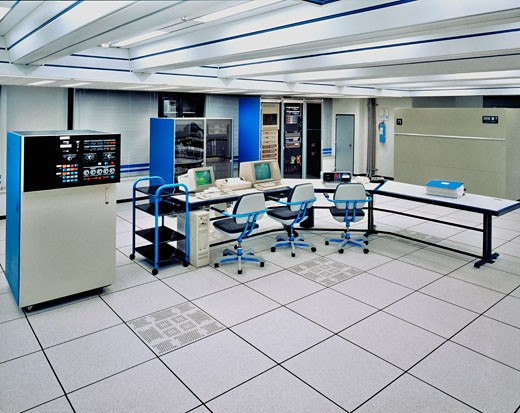 Stock Photo: 1663R-35166 Network servers in an office room