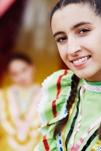 Stock Photo: 1663R-36470 Portrait of a young woman smiling