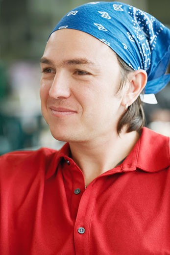 Close-up of a mid adult man smiling : Stock Photo