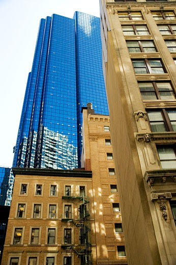 Stock Photo: 1663R-37340 Low angle view of buildings in a city, Boston, Massachusetts, USA