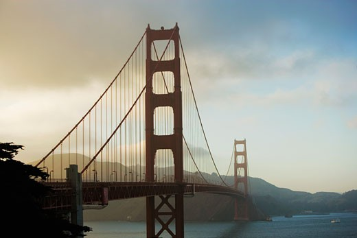 Bridge over the bay, Golden Gate Bridge, San Francisco, California, USA : Stock Photo