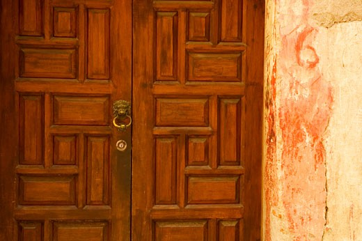 Stock Photo: 1663R-37791 Close-up of a closed door, Mexico