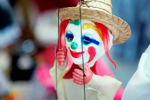 Stock Photo: 1663R-37854 Close-up of a marionette, San Diego, California, USA