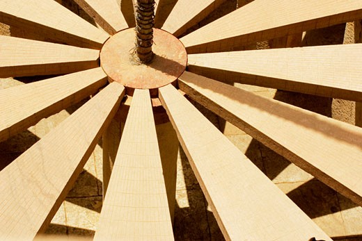 Close-up of a sun dial, Jantar Mantar, Jaipur, Rajasthan, India : Stock Photo