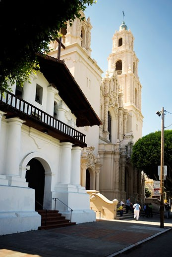 Side profile of a church, Mission Dolores, San Francisco, California, USA : Stock Photo