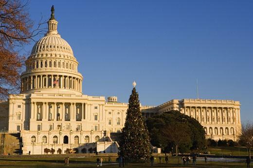 Facade of a government building, Capitol Building, Washington DC, USA : Stock Photo