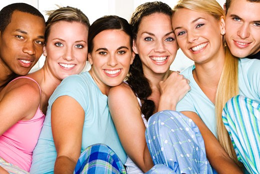 Portrait of a group of people smiling : Stock Photo