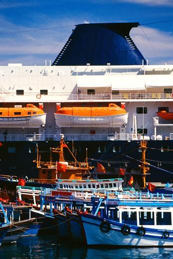 Stock Photo: 1663R-49704 Cruise ship, Port of Nha Trang, Vietnam