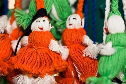 Stock Photo: 1663R-52216 Close-up of hand made dolls, Santo Tomas Jalieza, Oaxaca State, Mexico