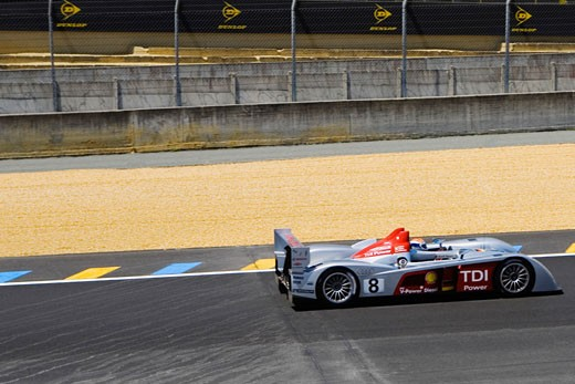 Stock Photo: 1663R-54364 Stock car in a motor racing track, Le Mans, France