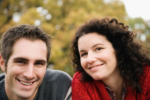 Portrait of a couple smiling : Stock Photo
