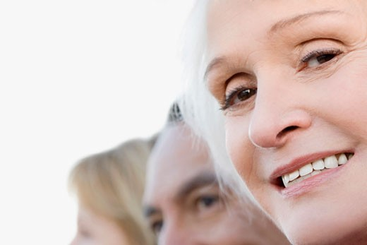 Close-up of a senior woman smiling : Stock Photo