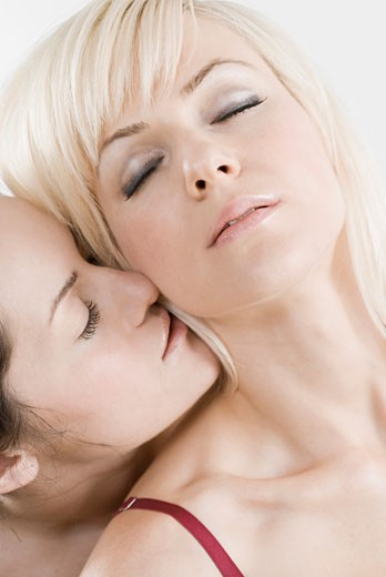 Stock Photo: 1663R-56613 Female homosexual couple romancing