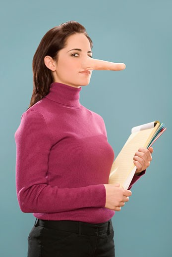 Stock Photo: 1663R-57783 Portrait of a businesswoman with long nose