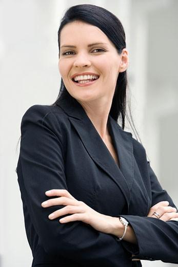 Stock Photo: 1663R-57814 Portrait of a businesswoman smiling