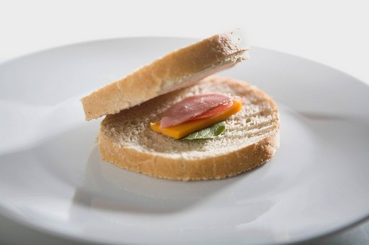 Close_up of a sandwich on a plate : Stock Photo