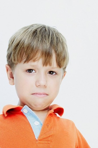Portrait of a boy crying : Stock Photo