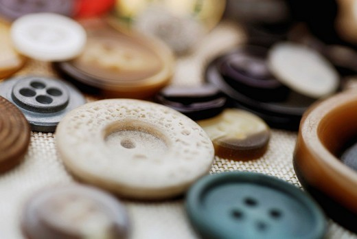 Stock Photo: 1663R-65952 Close_up of buttons