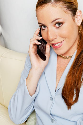 Stock Photo: 1663R-6634 Portrait of a businesswoman talking on a mobile phone