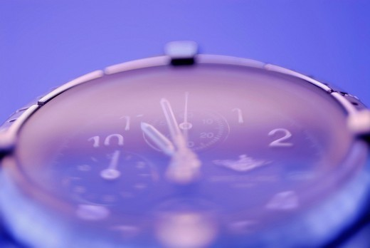 Close_up of a wristwatch : Stock Photo