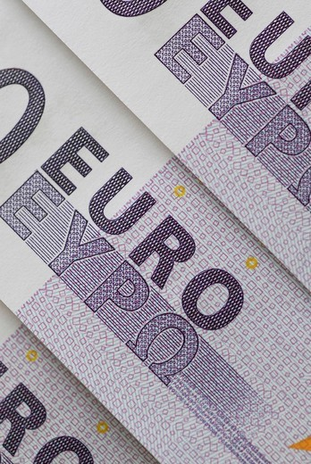 Close_up of Euro bank notes : Stock Photo