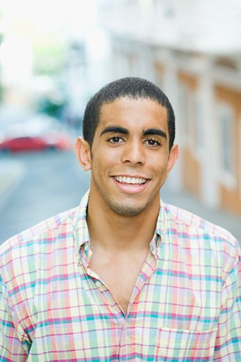 Stock Photo: 1663R-6906 Portrait of a young man smiling