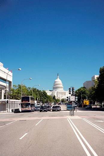 Traffic on a road, Washington DC, USA : Stock Photo