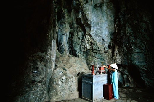 Cave temple, Marble Mountain, Danag, Vietnam : Stock Photo