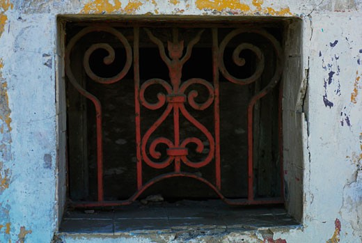 Close-up of a window, Cartagena, Colombia : Stock Photo