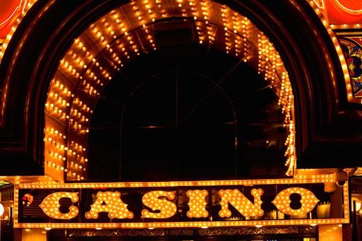 Stock Photo: 1663R-8764 Close-up of a neon signboard, Las Vegas, Nevada, USA