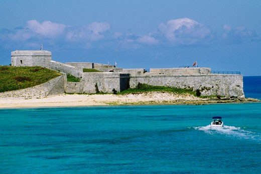 Front view of Fort St CatherineNR., St Georges, Bermuda : Stock Photo