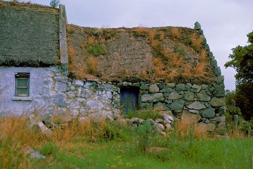 Stock Photo: 1663R-9411 Close-up of a hut, Republic of Ireland