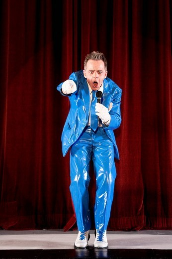 Stock Photo: 1669-14674 comedian performing on stage