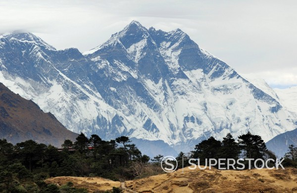 Stock Photo: 1669-32891 Lhotse mountain in Nepal