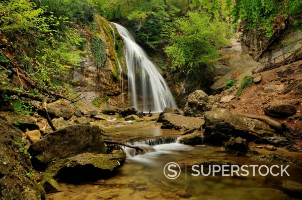 Stock Photo: 1669-33116 close_up of Jur_Jur waterfall on Crimea in Ukraine