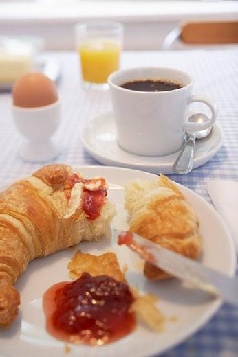 Stock Photo: 1669R-13148 still life of breakfast table