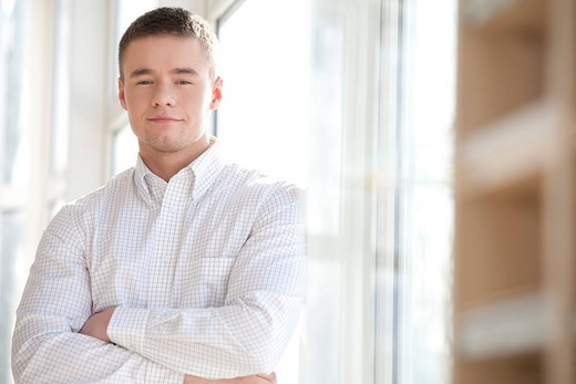 Stock Photo: 1669R-16327 portrait of young businessman