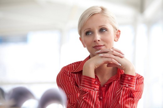 portrait of young blonde businesswoman : Stock Photo