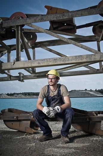 portrait of worker : Stock Photo