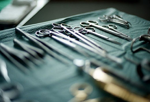 Stock Photo: 1669R-2886 still life of surgical instruments