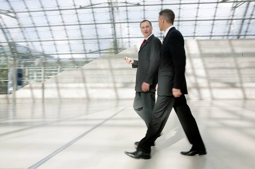 Stock Photo: 1669R-31382 two businessmen talking to each other