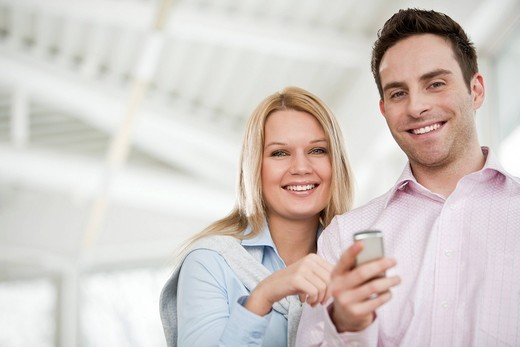 Stock Photo: 1669R-31986 portrait of young businessman and female colleague