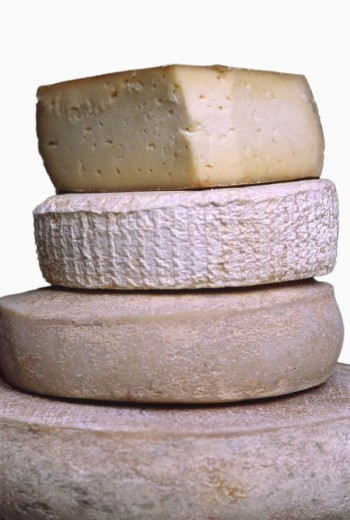 Stock Photo: 1669R-6729 Various cheeses