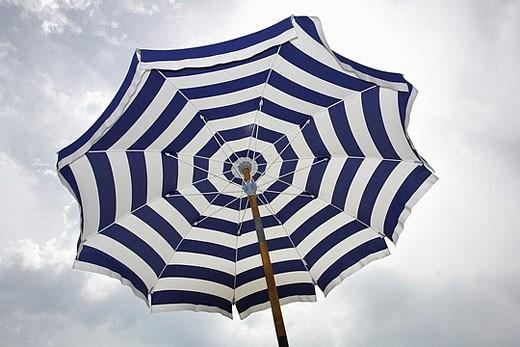 Stock Photo: 1669R-8061 Beach umbrella