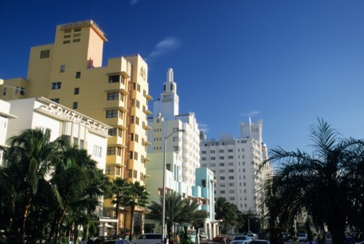 Stock Photo: 1672R-14409 USA, Florida, Miami, South Beach, Art Deco buildings