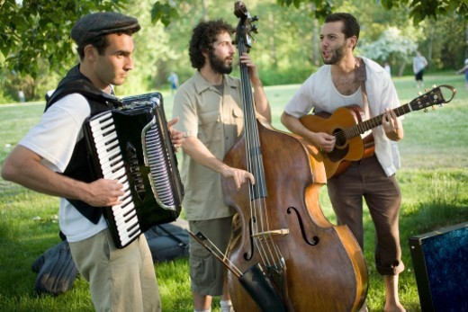 Stock Photo: 1672R-14623 Musicians play klezmer music, a  form of Eastern European Jewish folk music